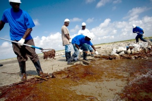 Elmer's Island BP oil spill clean up